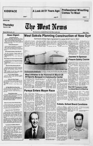 Primary view of object titled 'The West News (West, Tex.), Vol. 95, No. 12, Ed. 1 Thursday, March 21, 1985'.