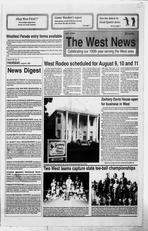 Primary view of object titled 'The West News (West, Tex.), Vol. 100, No. 31, Ed. 1 Thursday, August 2, 1990'.