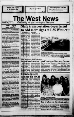 Primary view of object titled 'The West News (West, Tex.), Vol. 104, No. 43, Ed. 1 Thursday, October 27, 1994'.
