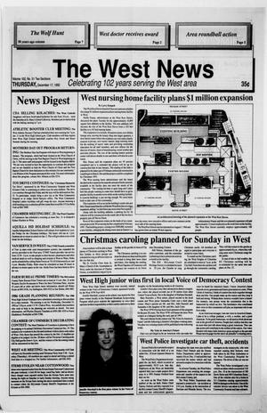 Primary view of object titled 'The West News (West, Tex.), Vol. 102, No. 51, Ed. 1 Thursday, December 17, 1992'.