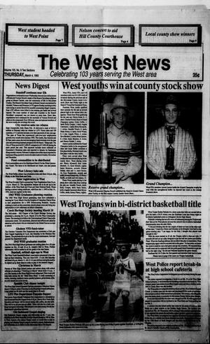 Primary view of object titled 'The West News (West, Tex.), Vol. 103, No. 9, Ed. 1 Thursday, March 4, 1993'.