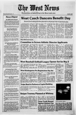 Primary view of object titled 'The West News (West, Tex.), Vol. 97, No. 17, Ed. 1 Thursday, April 23, 1987'.