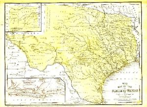 Primary view of object titled '[Texas map, 1852]'.