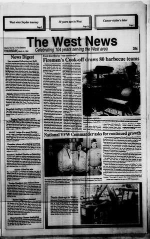 Primary view of object titled 'The West News (West, Tex.), Vol. 104, No. 14, Ed. 1 Thursday, March 24, 1994'.