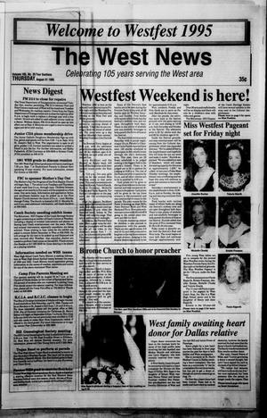 Primary view of object titled 'The West News (West, Tex.), Vol. 105, No. 35, Ed. 1 Thursday, August 31, 1995'.