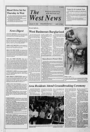 Primary view of object titled 'The West News (West, Tex.), Vol. 99, No. 2, Ed. 1 Thursday, January 12, 1989'.