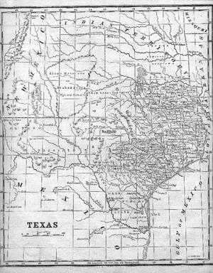 Primary view of object titled '[1851 Map of Texas]'.