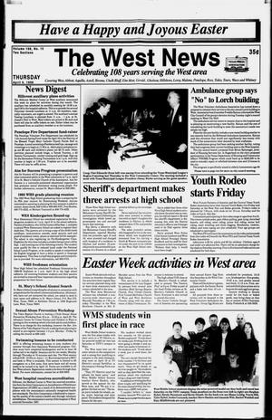 Primary view of object titled 'The West News (West, Tex.), Vol. 108, No. 15, Ed. 1 Thursday, April 9, 1998'.