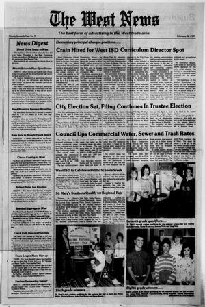 Primary view of object titled 'The West News (West, Tex.), Vol. 97, No. 9, Ed. 1 Thursday, February 26, 1987'.