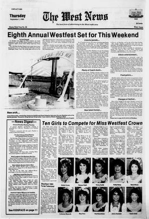 Primary view of object titled 'The West News (West, Tex.), Vol. 92, No. 35, Ed. 1 Thursday, September 1, 1983'.