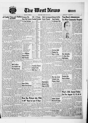 Primary view of object titled 'The West News (West, Tex.), Vol. 81, No. 15, Ed. 1 Friday, July 30, 1971'.