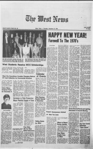 Primary view of object titled 'The West News (West, Tex.), Vol. 89, No. 52, Ed. 1 Thursday, December 27, 1979'.