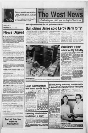 Primary view of object titled 'The West News (West, Tex.), Vol. 99, No. 22, Ed. 1 Thursday, June 1, 1989'.
