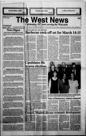 Primary view of object titled 'The West News (West, Tex.), Vol. 107, No. 10, Ed. 1 Thursday, March 6, 1997'.