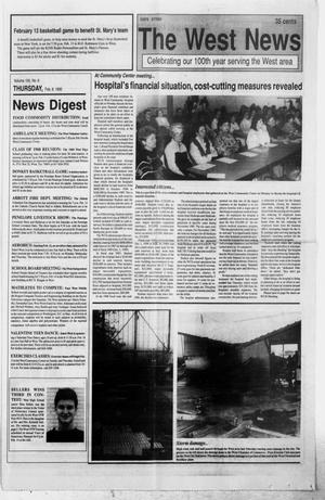 Primary view of object titled 'The West News (West, Tex.), Vol. 100, No. 6, Ed. 1 Thursday, February 8, 1990'.