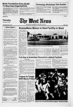 Primary view of object titled 'The West News (West, Tex.), Vol. 94, No. 39, Ed. 1 Thursday, September 27, 1984'.