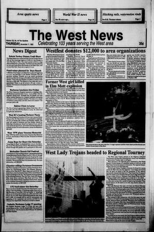 Primary view of object titled 'The West News (West, Tex.), Vol. 103, No. 45, Ed. 1 Thursday, November 11, 1993'.