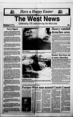 Primary view of object titled 'The West News (West, Tex.), Vol. 105, No. 15, Ed. 1 Thursday, April 13, 1995'.