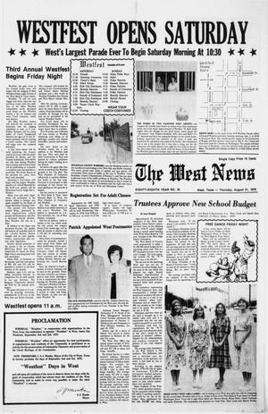 Primary view of object titled 'The West News (West, Tex.), Vol. 88, No. 35, Ed. 1 Thursday, August 31, 1978'.