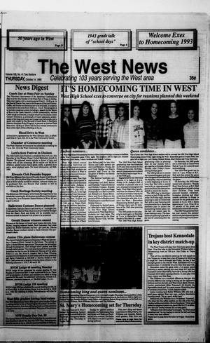 Primary view of object titled 'The West News (West, Tex.), Vol. 103, No. 41, Ed. 1 Thursday, October 14, 1993'.