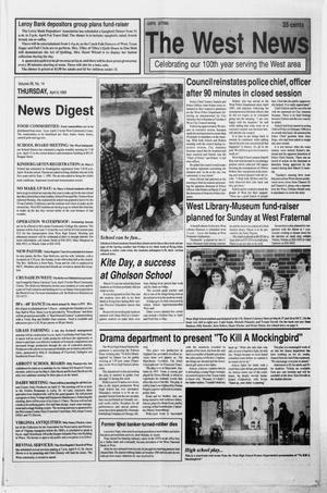 Primary view of object titled 'The West News (West, Tex.), Vol. 99, No. 14, Ed. 1 Thursday, April 6, 1989'.