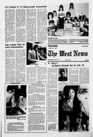 Primary view of object titled 'The West News (West, Tex.), Vol. 92, No. 7, Ed. 1 Thursday, February 18, 1982'.