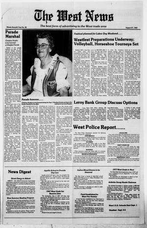 Primary view of object titled 'The West News (West, Tex.), Vol. 97, No. 35, Ed. 1 Thursday, August 27, 1987'.