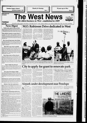 Primary view of object titled 'The West News (West, Tex.), Vol. 108, No. 28, Ed. 1 Thursday, July 9, 1998'.