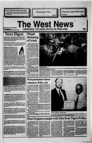 Primary view of object titled 'The West News (West, Tex.), Vol. 102, No. 44, Ed. 1 Thursday, October 22, 1992'.