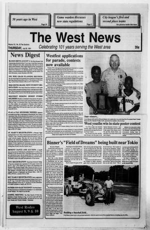 Primary view of object titled 'The West News (West, Tex.), Vol. 101, No. 30, Ed. 1 Thursday, July 25, 1991'.
