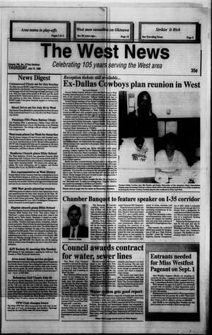 Primary view of object titled 'The West News (West, Tex.), Vol. 105, No. 27, Ed. 1 Thursday, July 13, 1995'.