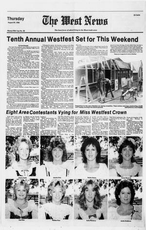 Primary view of object titled 'The West News (West, Tex.), Vol. 95, No. 35, Ed. 1 Thursday, August 29, 1985'.