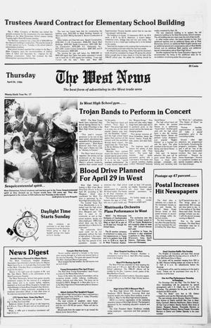 Primary view of object titled 'The West News (West, Tex.), Vol. 96, No. 17, Ed. 1 Thursday, April 24, 1986'.