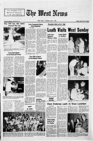 Primary view of object titled 'The West News (West, Tex.), Vol. 88, No. 22, Ed. 1 Thursday, June 1, 1978'.