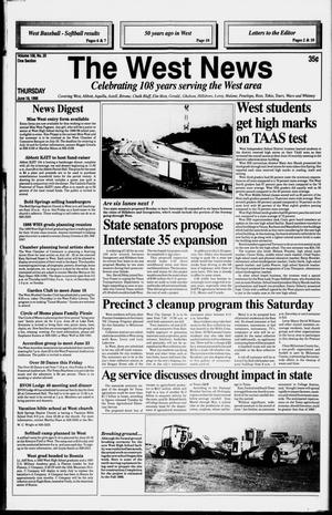Primary view of object titled 'The West News (West, Tex.), Vol. 108, No. 25, Ed. 1 Thursday, June 18, 1998'.