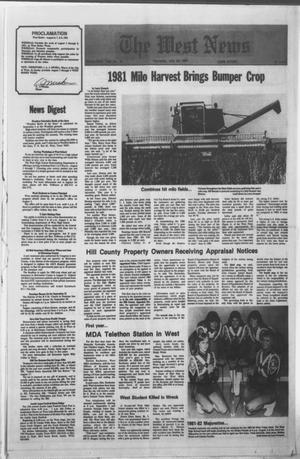 Primary view of object titled 'The West News (West, Tex.), Vol. 91, No. 30, Ed. 1 Thursday, July 30, 1981'.