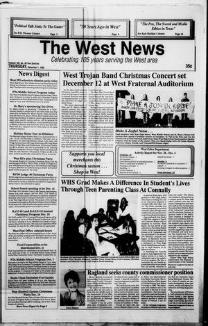 Primary view of object titled 'The West News (West, Tex.), Vol. 105, No. 49, Ed. 1 Thursday, December 7, 1995'.