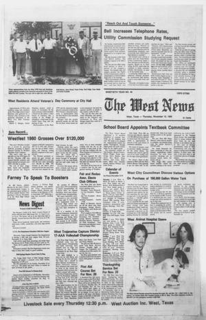 Primary view of object titled 'The West News (West, Tex.), Vol. 90, No. 45, Ed. 1 Thursday, November 13, 1980'.