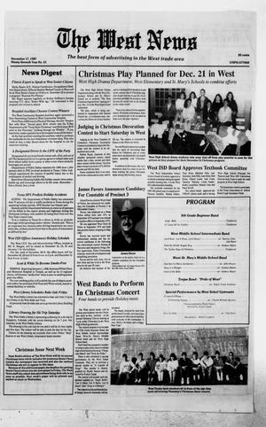 Primary view of object titled 'The West News (West, Tex.), Vol. 97, No. 51, Ed. 1 Thursday, December 17, 1987'.