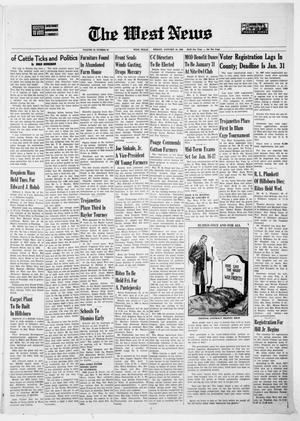 Primary view of object titled 'The West News (West, Tex.), Vol. 78, No. 38, Ed. 1 Friday, January 10, 1969'.