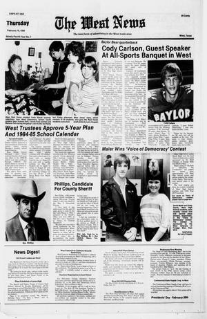 Primary view of object titled 'The West News (West, Tex.), Vol. 94, No. 7, Ed. 1 Thursday, February 16, 1984'.