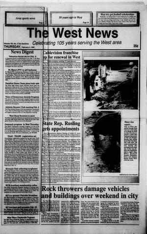 Primary view of object titled 'The West News (West, Tex.), Vol. 105, No. 5, Ed. 1 Thursday, February 2, 1995'.