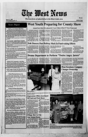 Primary view of object titled 'The West News (West, Tex.), Vol. 98, No. 11, Ed. 1 Thursday, March 17, 1988'.