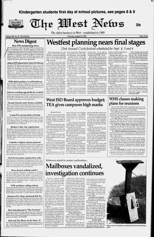 Primary view of object titled 'The West News (West, Tex.), Vol. 108, No. 35, Ed. 1 Thursday, August 27, 1998'.