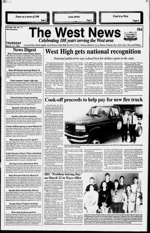 Primary view of object titled 'The West News (West, Tex.), Vol. 108, No. 11, Ed. 1 Thursday, March 12, 1998'.