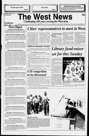Primary view of object titled 'The West News (West, Tex.), Vol. 108, No. 14, Ed. 1 Thursday, April 2, 1998'.