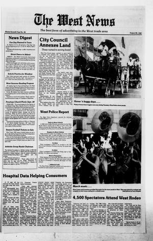 Primary view of object titled 'The West News (West, Tex.), Vol. 97, No. 34, Ed. 1 Thursday, August 20, 1987'.