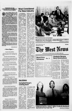 Primary view of object titled 'The West News (West, Tex.), Vol. 93, No. 47, Ed. 1 Thursday, November 24, 1983'.