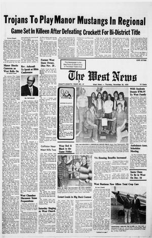 Primary view of object titled 'The West News (West, Tex.), Vol. 88, No. 47, Ed. 1 Thursday, November 30, 1978'.