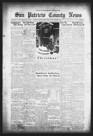 Primary view of object titled 'San Patricio County News (Sinton, Tex.), Vol. 26, No. 49, Ed. 1 Thursday, December 20, 1934'.